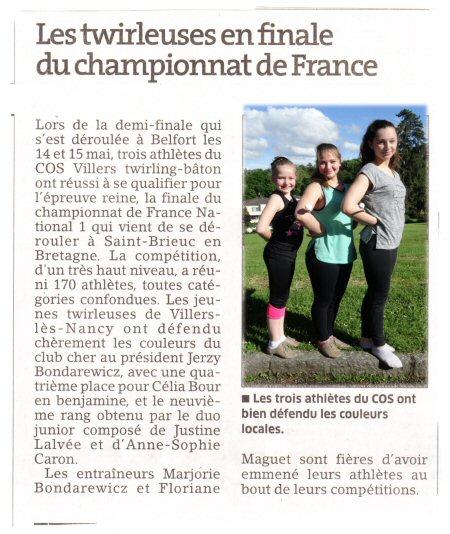 finalistes championnat de france n1 pour site
